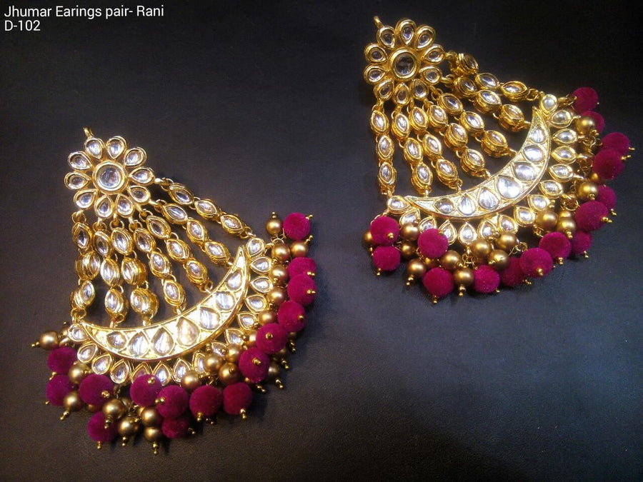 Designer Beads Jhumar Earrings