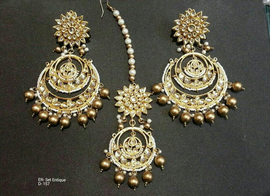 Designer Beads Earrings Antique