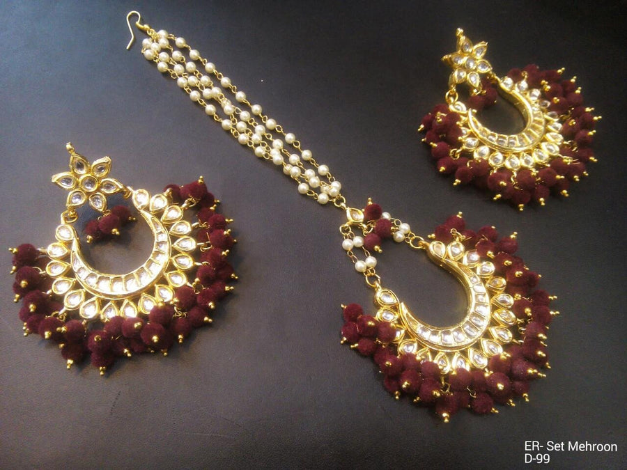 Designer Beads Earrings Set