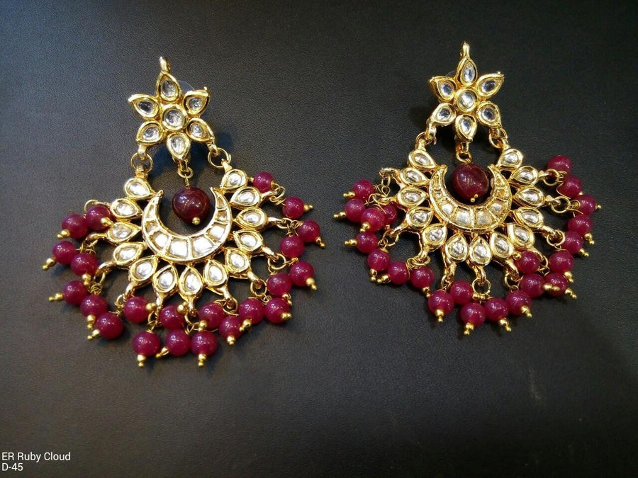 Designer Beads Ruby Cloud Earrings
