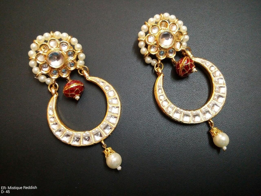 Designer Beads Mystique Reddish Earrings