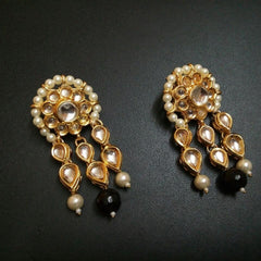 Designer Beads Attire Black Earrings