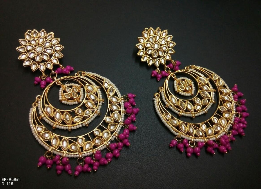 Designer Beads Rubini Earrings