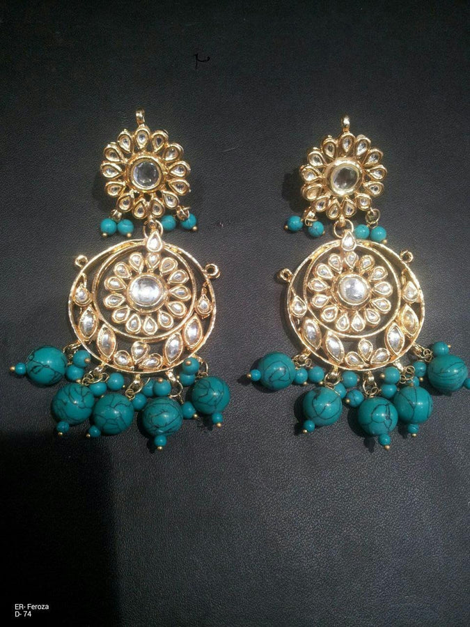 Designer Beads Feroza Earrings
