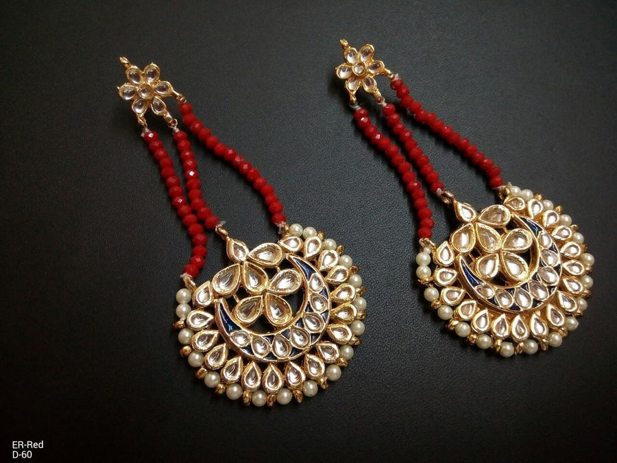 Designer Red Beads Earrings