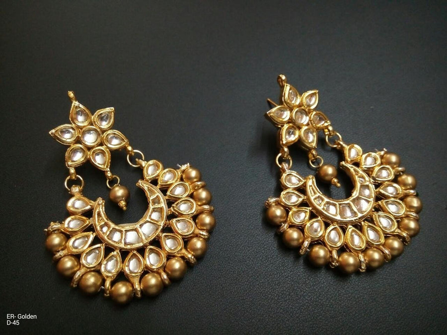 Designer Golden Beads Earrings