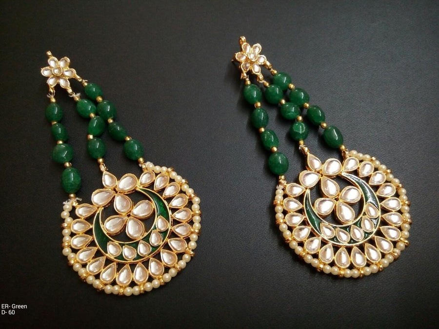 Designer Green Beads Earrings