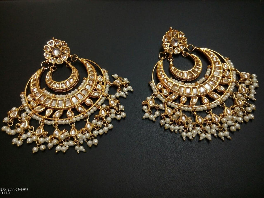 Designer Beads Ethnic Pearls Earrings