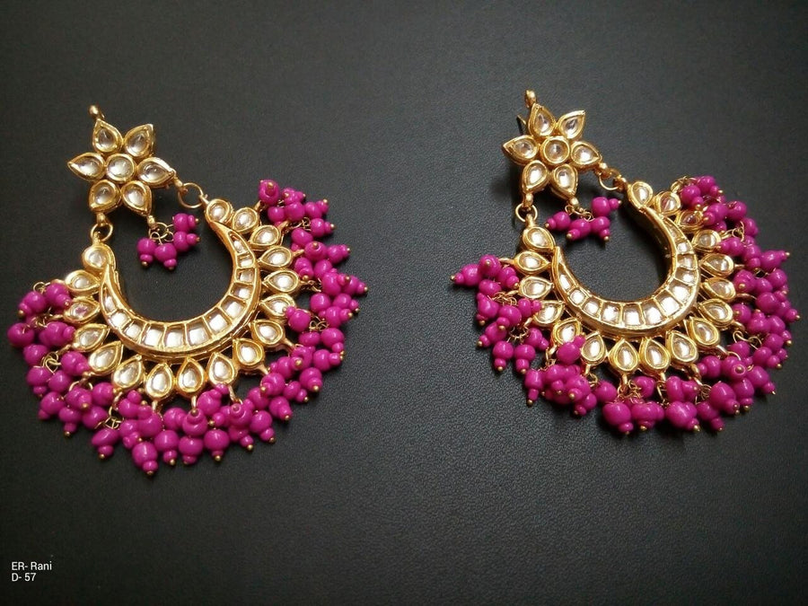Designer Rani Beads Earrings