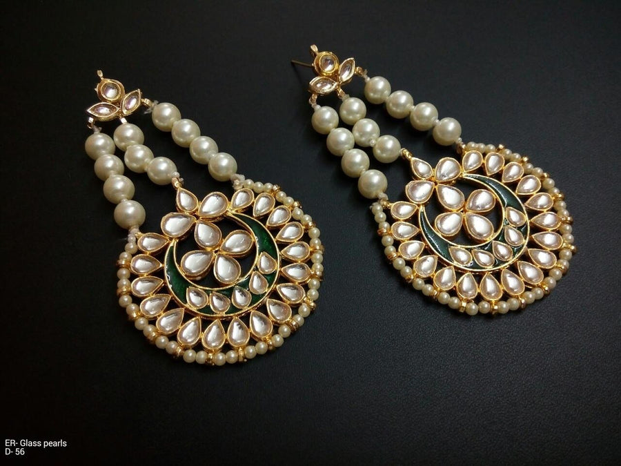 Designer Glass Pearl Beads Earrings