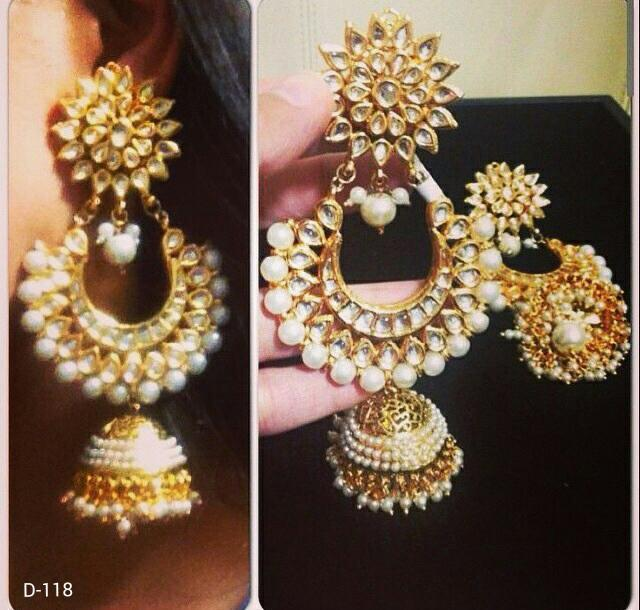 Designer Jhoomar Beads Earrings with Jhumka
