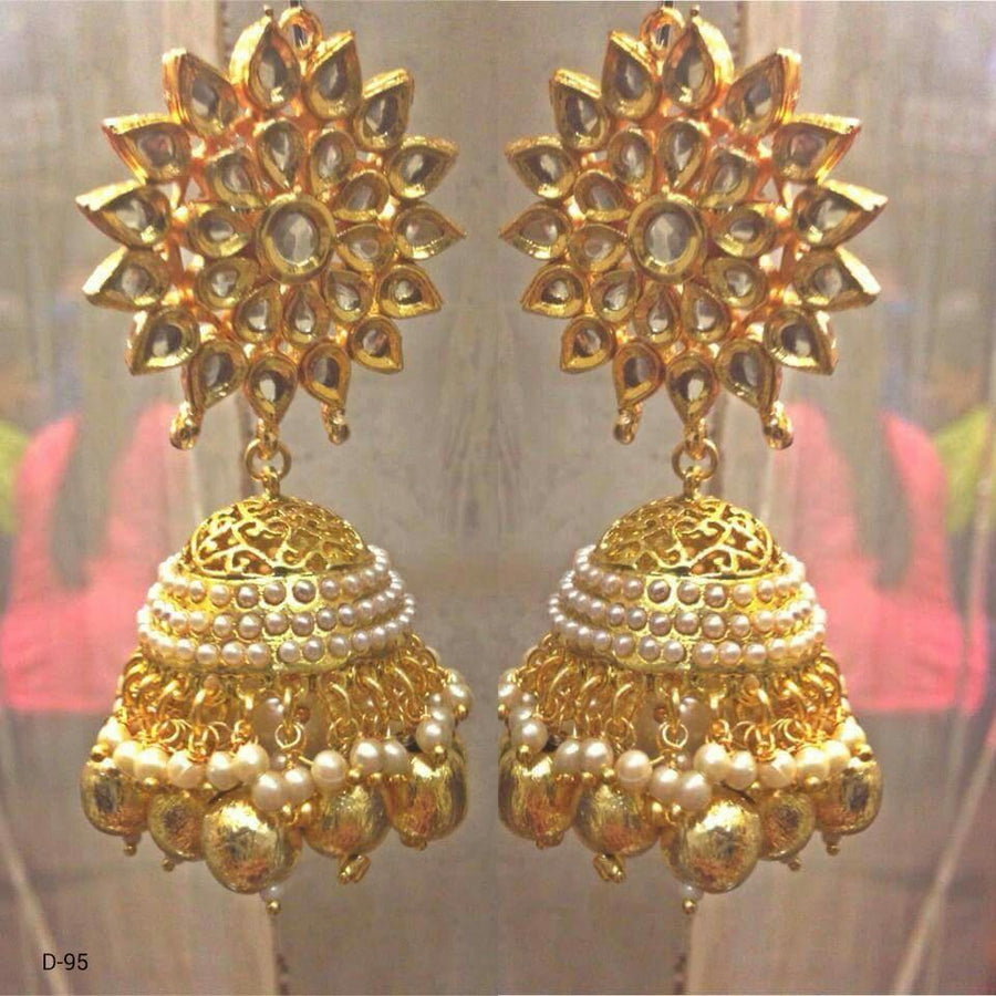 Designer Beads Jhumka Earrings