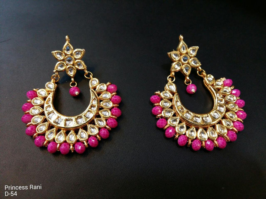 Designer Beads Princess Rani Earrings