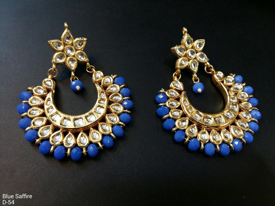 Designer Beads Blue Saffire Earrings