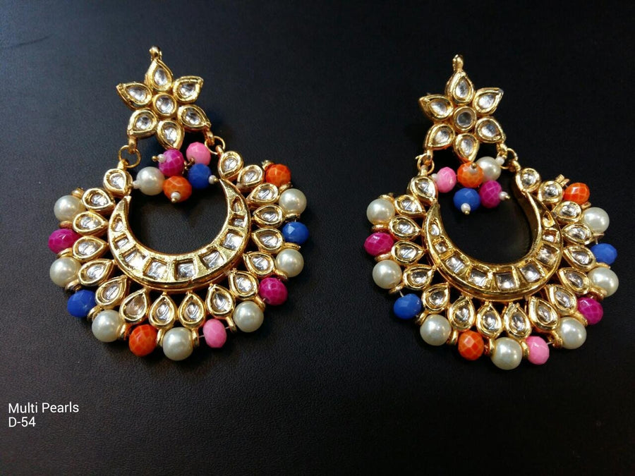 Designer Beads Multi Pearls Earrings