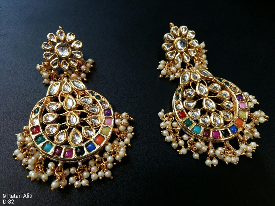 Designer Beads Nav Ratna Alia Earrings