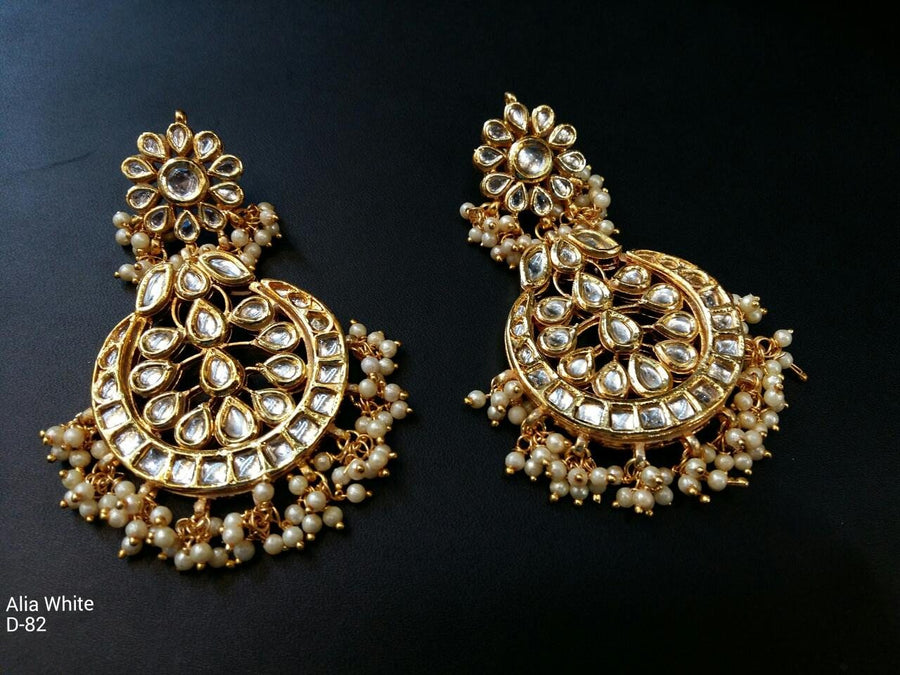 Designer Beads Alia White Earrings