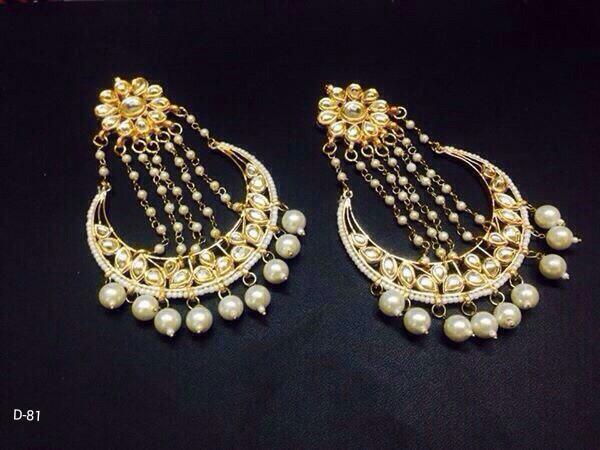 Designer Beads Chain Earrings