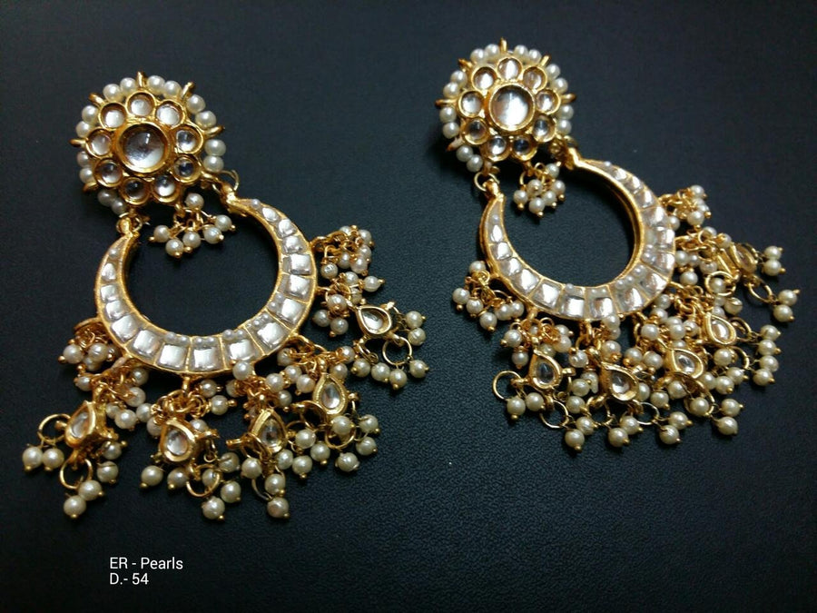 Designer Beads Pearl Earrings