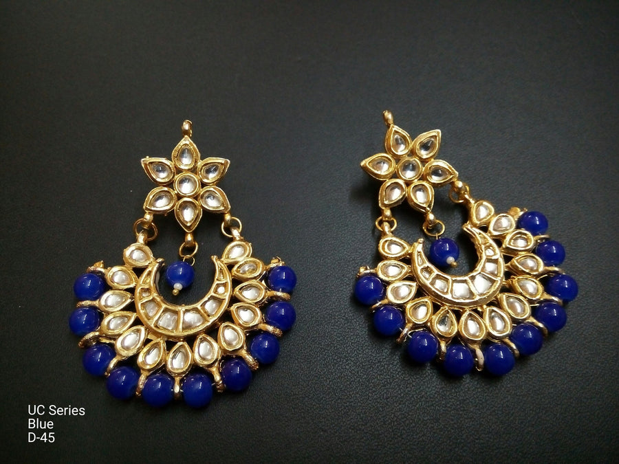 Designer Beads UC Series Blue Earrings