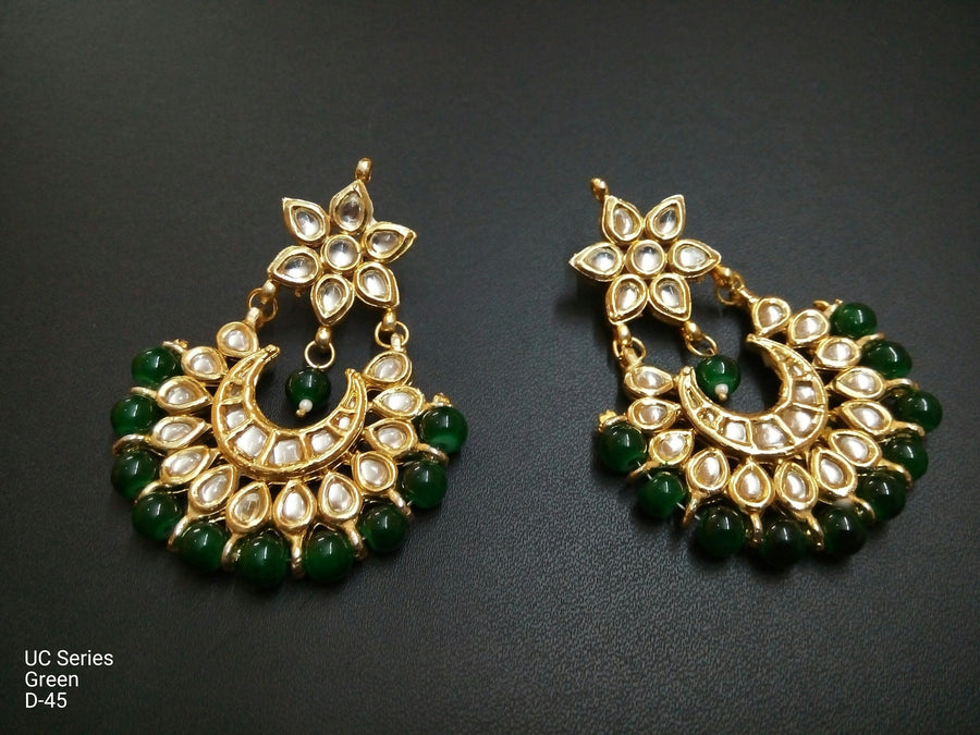 Designer Beads UC Series Green Earrings