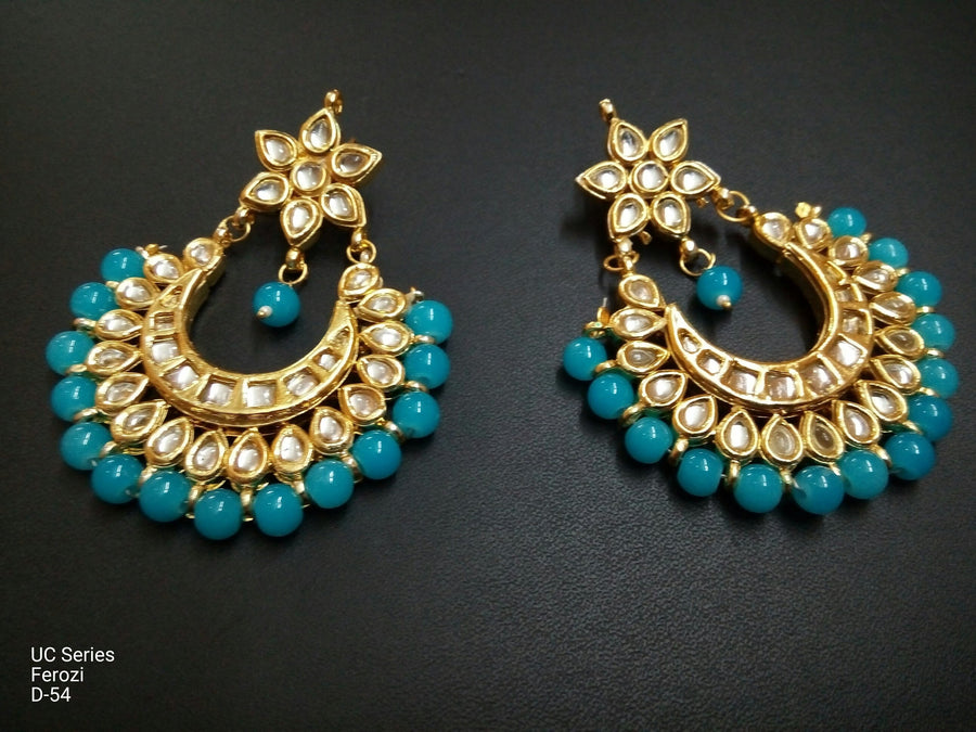 Designer Beads UC Series Ferozi Earrings