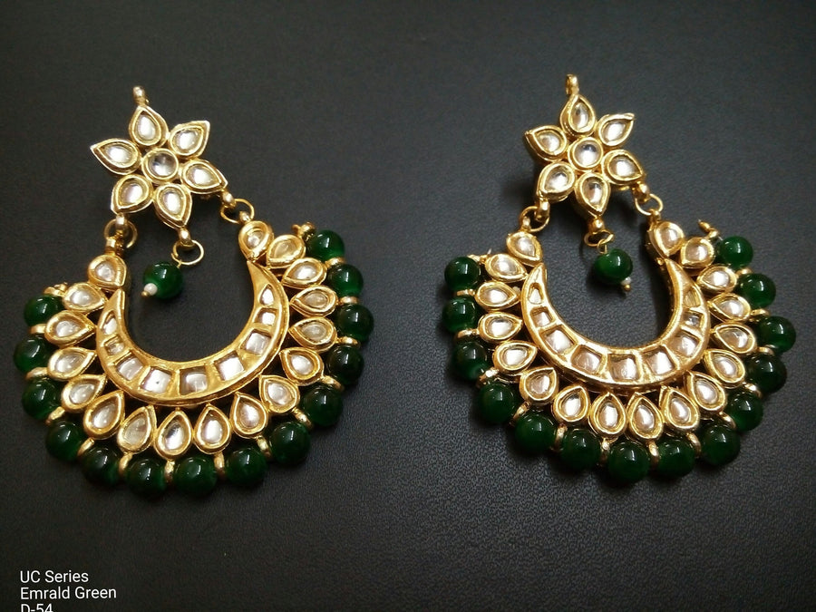 Designer Beads UC Series Emrald Green Earrings