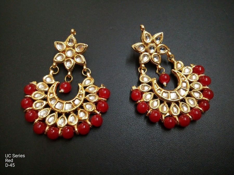 Designer Beads UC Series Red Earrings