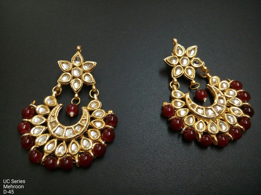 Designer Beads UC Series Maroon Earrings
