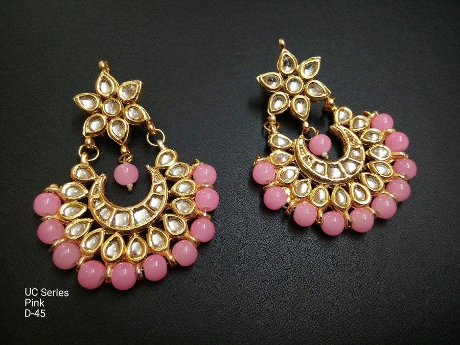 Designer Beads UC Series Pink Earrings