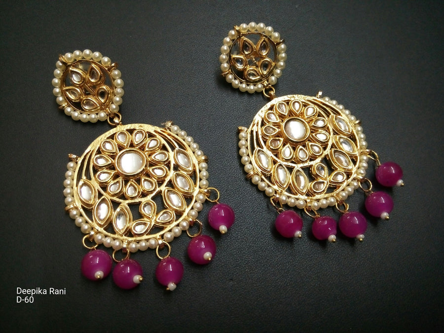 Designer Beads Deepika Rani Earrings
