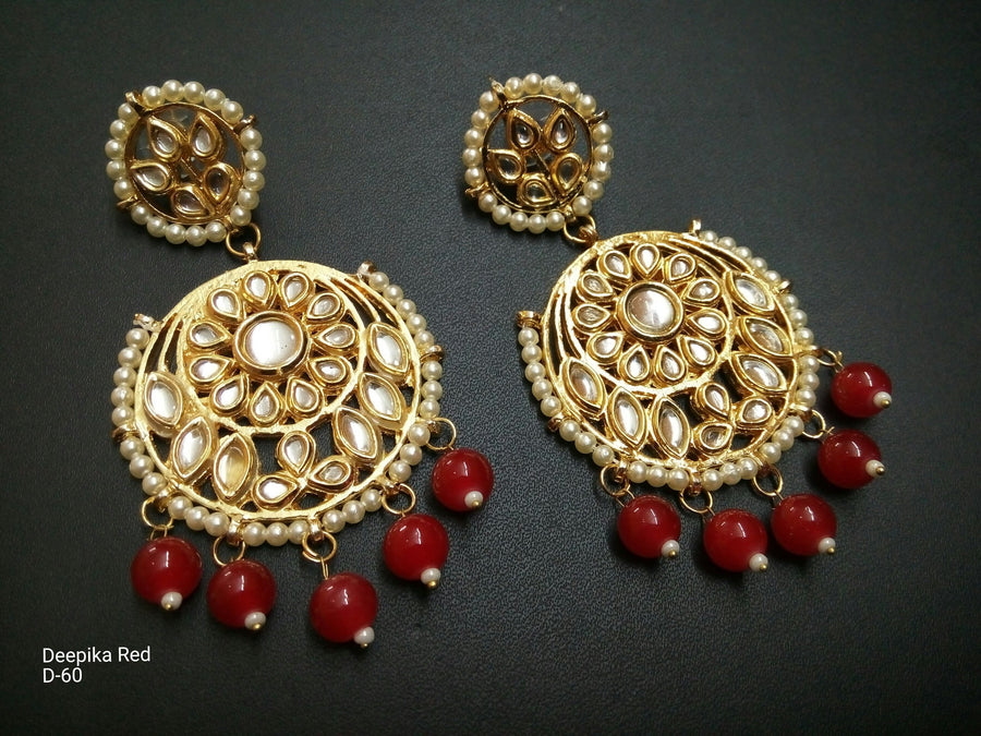 Designer Beads Deepika Red Earings
