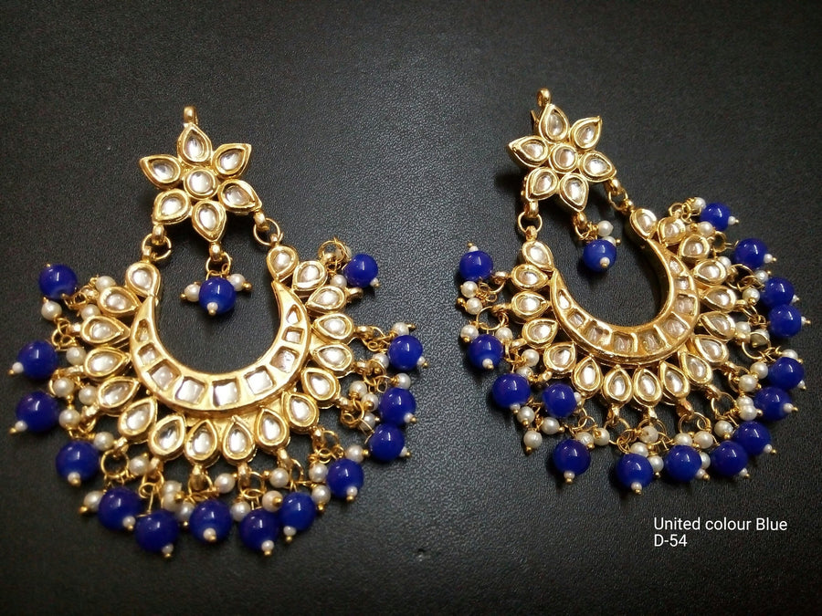 Designer Beads United Colors Blue Earrings