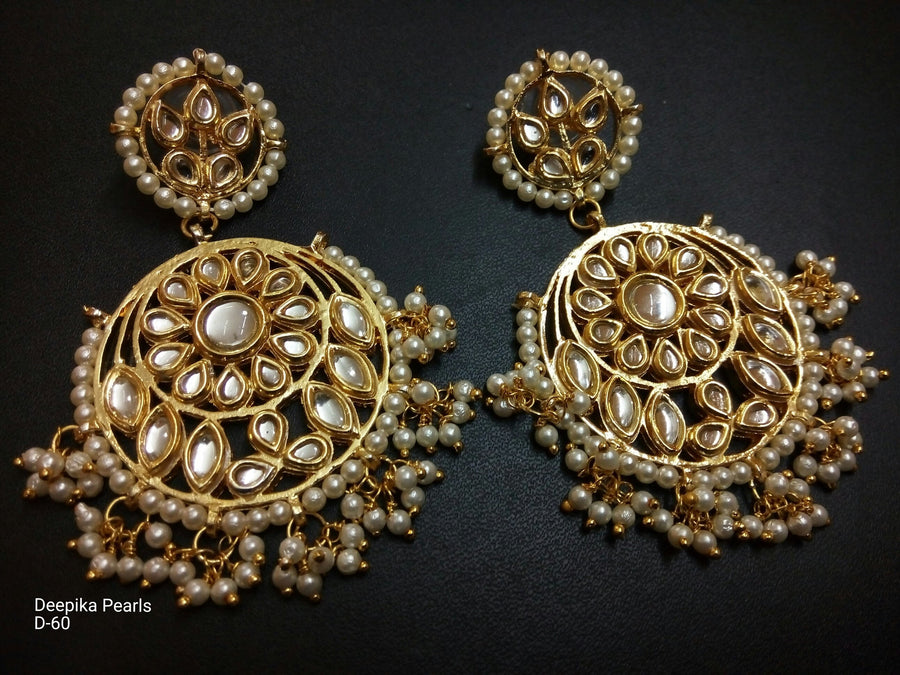 Designer Beads Deepika Pearls Earrings