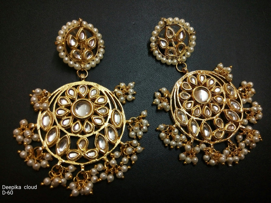 Designer Beads Deepika Cloud Earings