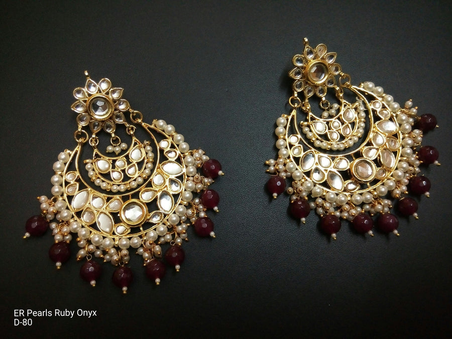 Designer Beads Ruby Onyx Earrings