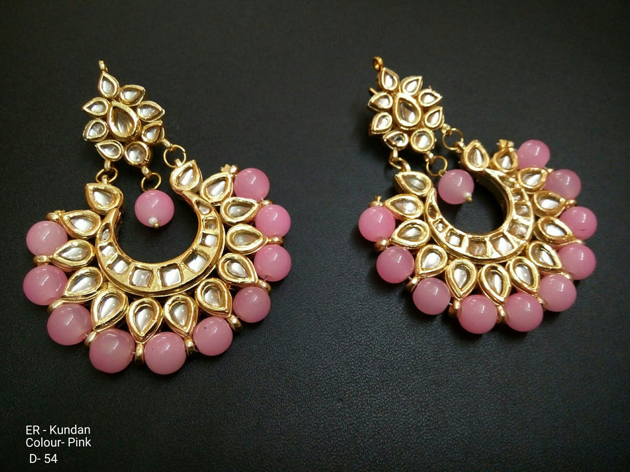 Designer Beads Deepika 3 Emrald Earrings