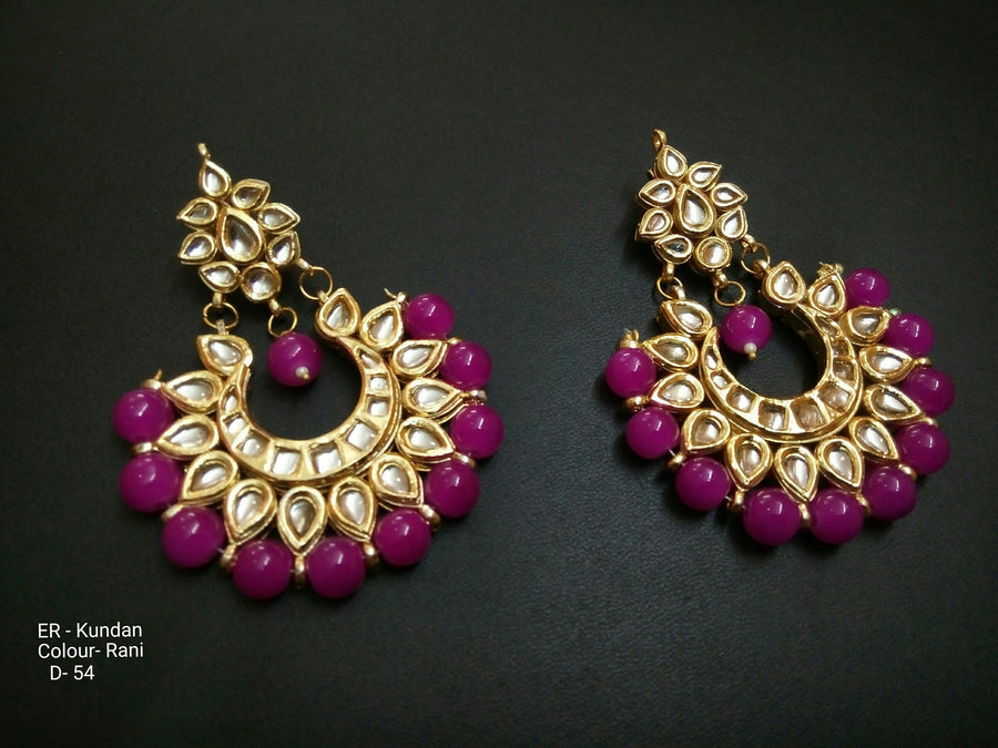 Designer Beads Kundan Earrings