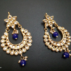 Designer 2 Bead kundan Earrings