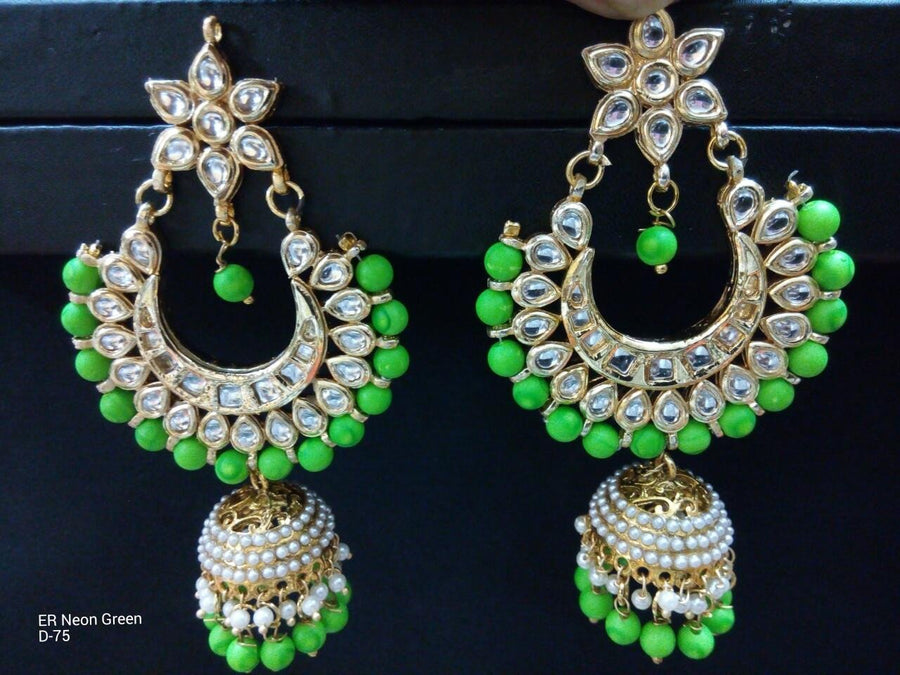 Designer Bead Earrings with Jhumka