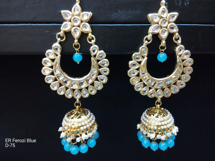 Designer Beads Earings with Jhumka