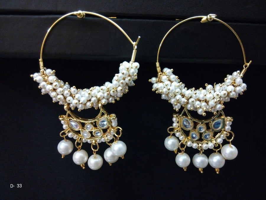 Designer Beads Drop Earings with Jhumki