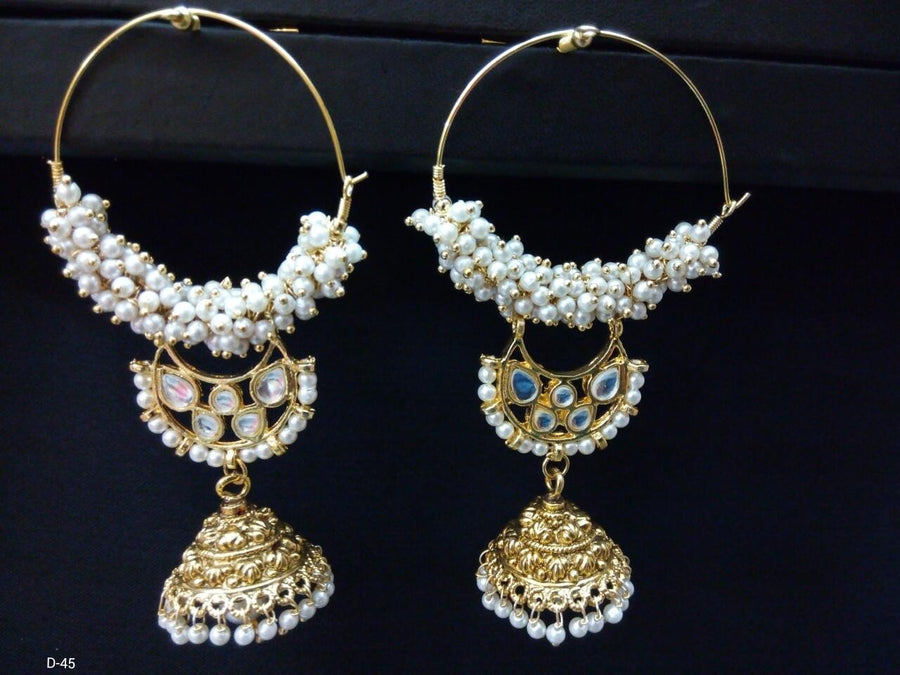 Designer Beads Drop Earings with Jhumki Earings
