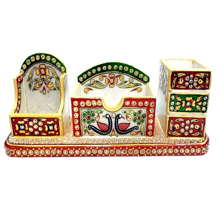 Hand Crafted with Incredible Meenakari Office Set