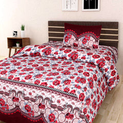 3D Designer Printed 180Tc MicroFiber Single Bedsheet With 1 Pillow Cover