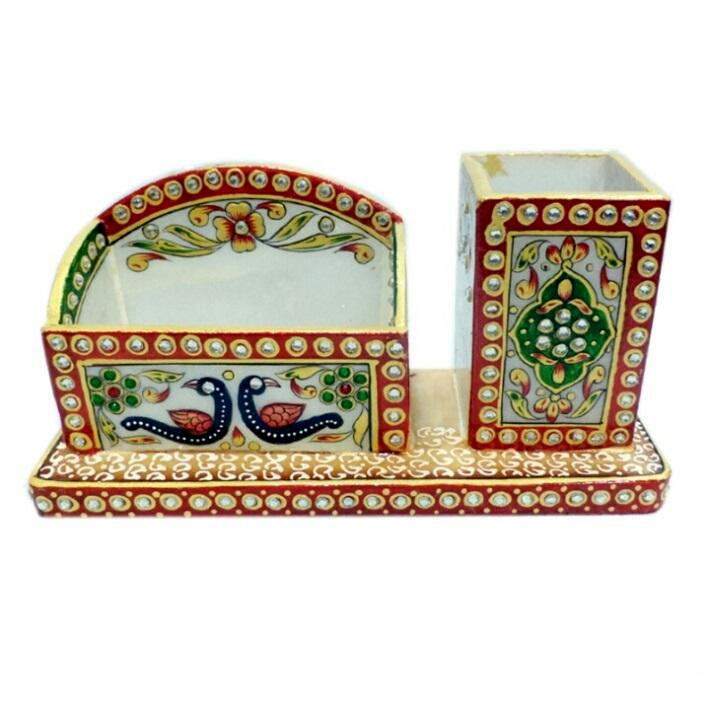 Hand Crafted with Incredible Meenakari Office Set Small