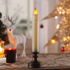 Christmas Decorative Acrylic LED Candle Rustic Finish Battery Operated
