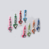 Multi Colour Long Stone Bindi