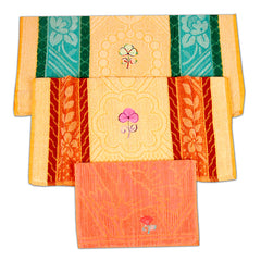 3 Piece 100% cotton Combo Of Hand and bath Towel set