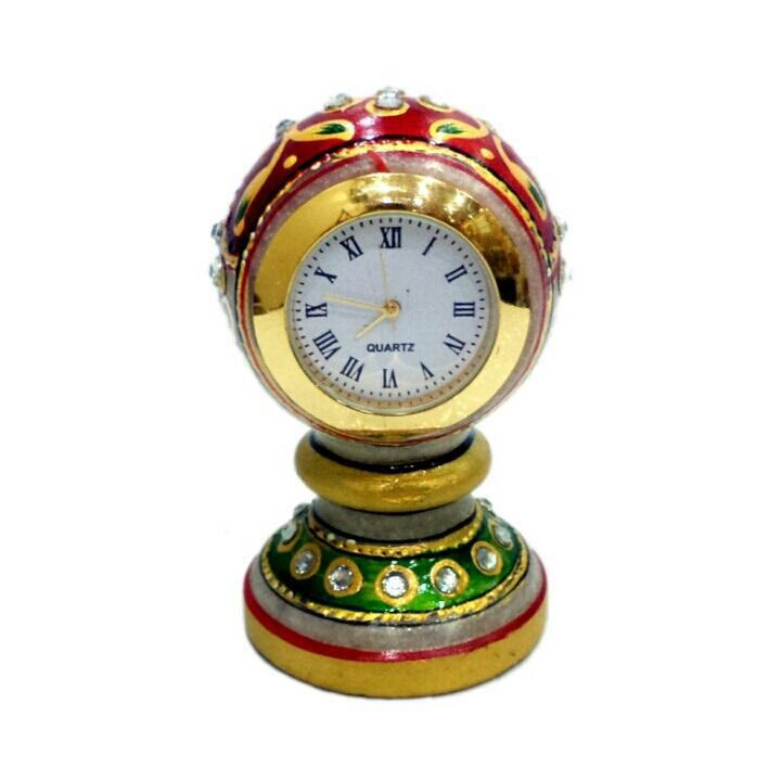 Hand Crafted with Incredible Meenakari One Piece Clock